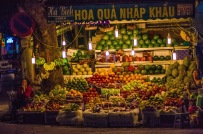 Street Fruit Stand - Hanoi